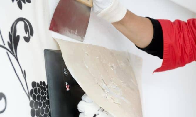 retirar papel pintado