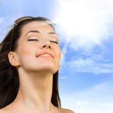 luz solar acne